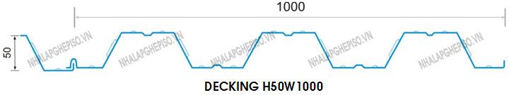 Sàn thép liên hợp decking H50W1000