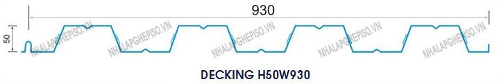 Sàn thép liên hợp decking H50W930