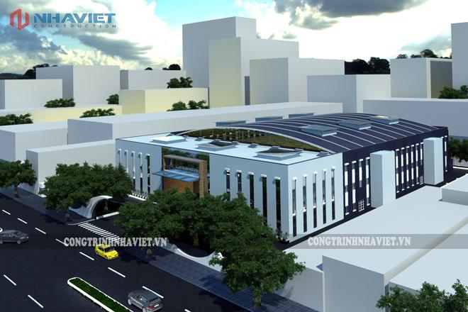 Phối cảnh thiết kế nhà xưởng Đài Loan Vsip