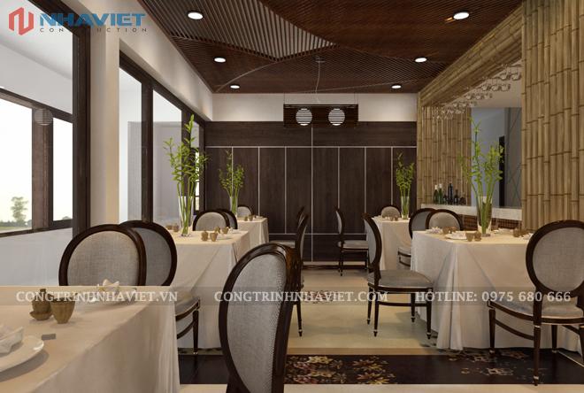Thiết kế khu vực nhà hàng