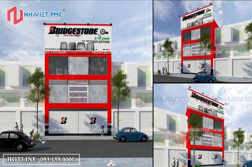 Thiết kế phối cảnh showroom ô tô 3 tầng tại Hải Phòng